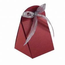 Wine Red Round Top Designer Favour Boxes